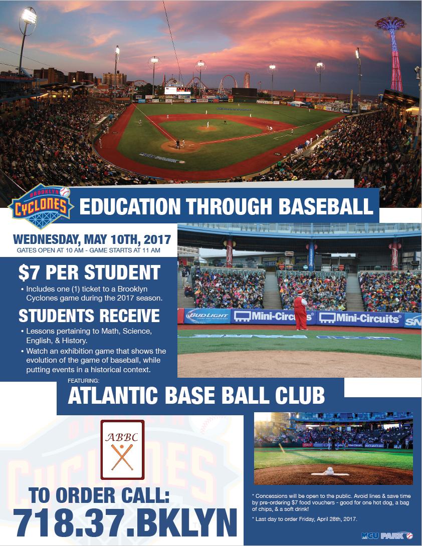 brooklyncyclones com education through baseball