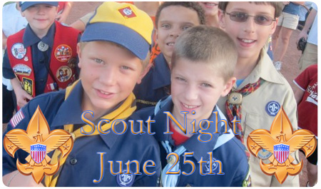 GROUP TIX FOR SCOUT NIGHT ON SALE NOW
