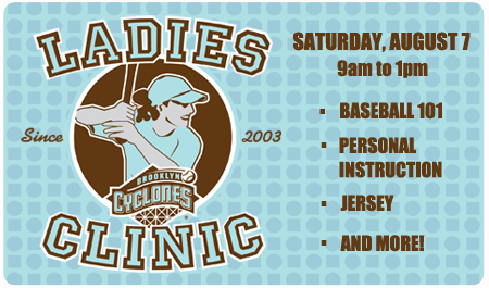 LADIES CLINIC - SATURDAY, AUGUST 7