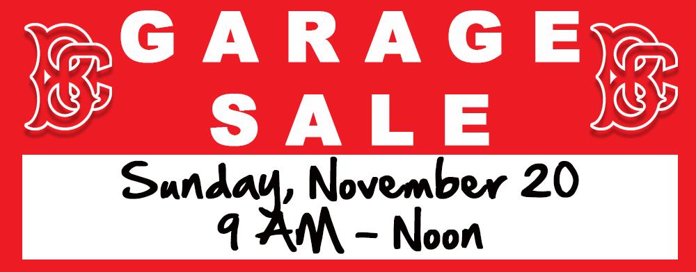 HOLIDAY SEASON GARAGE SALE - NOVEMBER 20