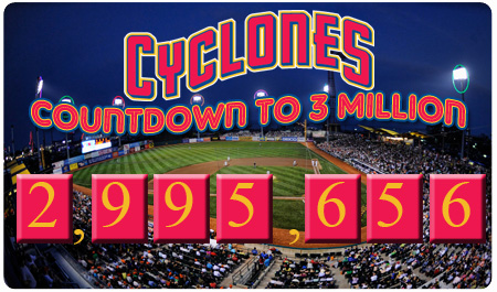 THE COUNTDOWN IS ON FOR OUR 3 MILLIONTH FAN