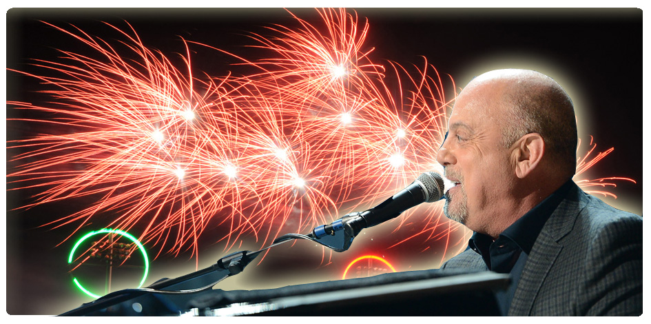 FIREWORKS SET TO BILLY JOEL MUSIC - AUGUST 10th