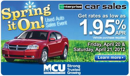 MCU CAR SALE - APRIL 20 & 21
