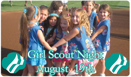 GIRL SCOUT NIGHT -- AUGUST 19th