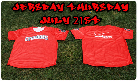 JERSDAY THURSDAY - JULY 21ST