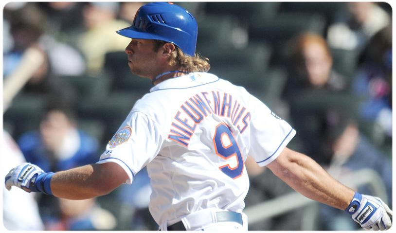 NIEUWENHUIS MAKES HIS MLB DEBUT