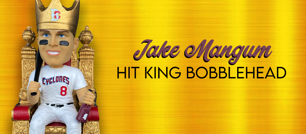 Bring Home the Jake Mangum Hit King Bobblehead Today!