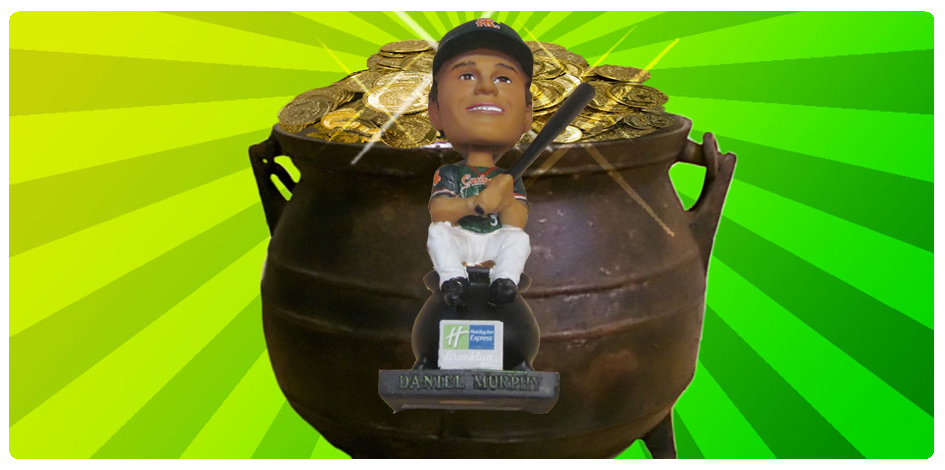 DANIEL MURPHY POT O'GOLD BOBBLEHEAD - AUGUST 26th