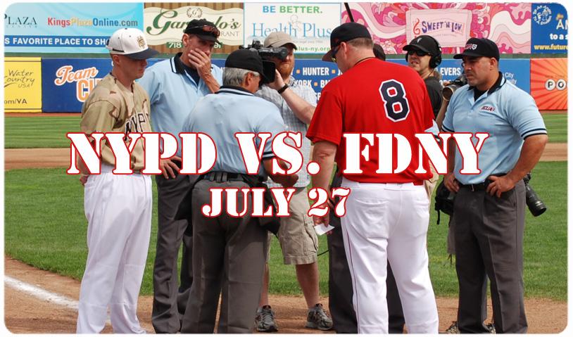 FDNY vs. NYPD BASEBALL -- JULY 27th