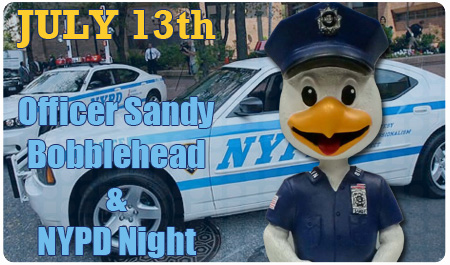 OFFICER SANDY BOBBLEHEAD - JULY 13th
