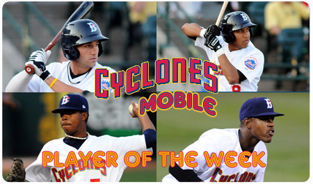 CYCLONES ANNOUNCE PLAYER OF THE WEEK FINALISTS
