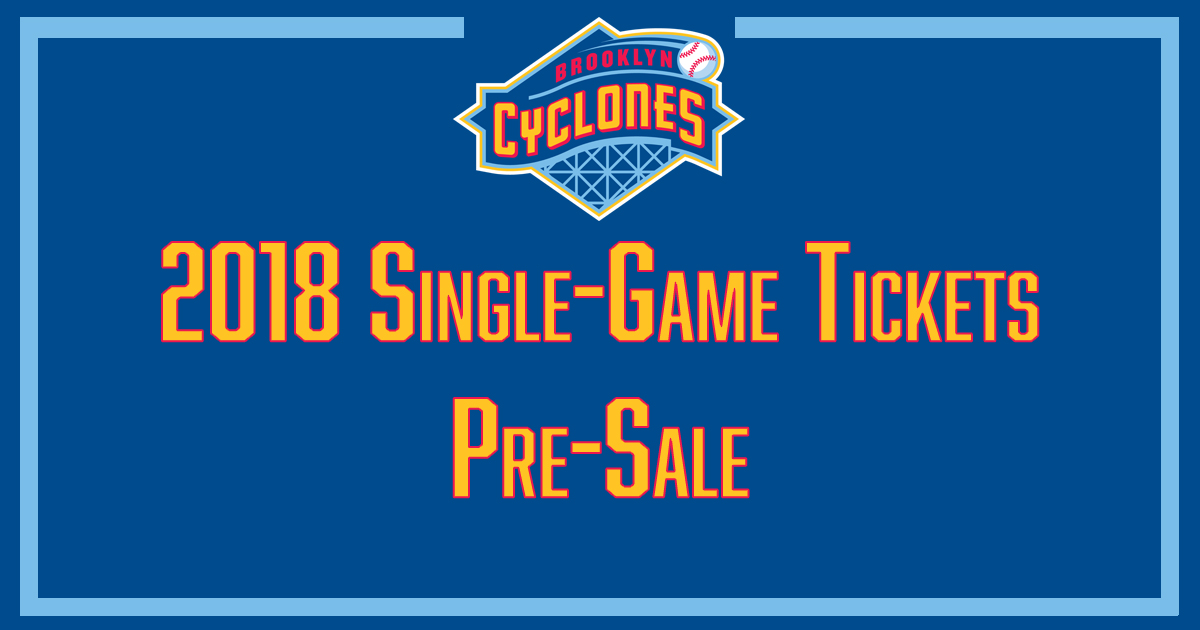 Single-Game Ticket Pre-Sales. Single game tickets for the 2018 season ... b7716cf2a