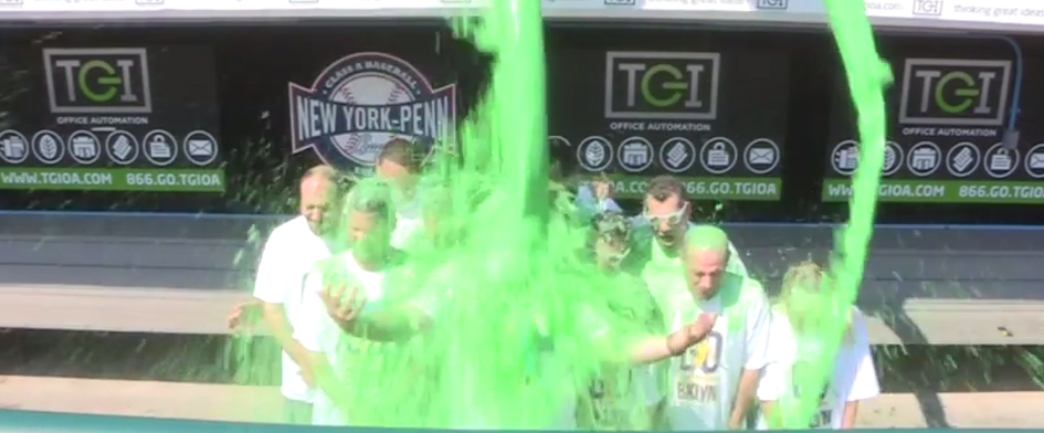 CYCLONES GET SLIMED FOR ALS ASSOCIATION