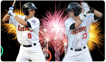 CYCLONES LIGHT UP STATEN ISLAND, 10-3