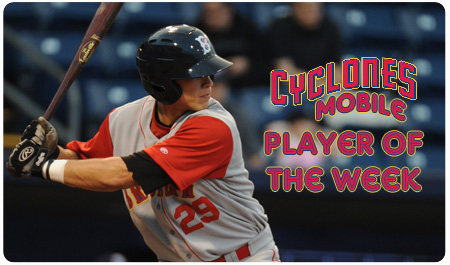 TRAVIS TAIJERON VOTED CYCLONES PLAYER OF THE WEEK