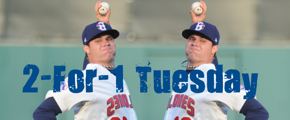 TWO FOR TUESDAY AT BROOKLYNCYCLONES.COM