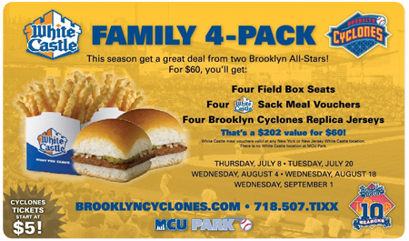 WHITE CASTLE FAMILY FOUR-PACK