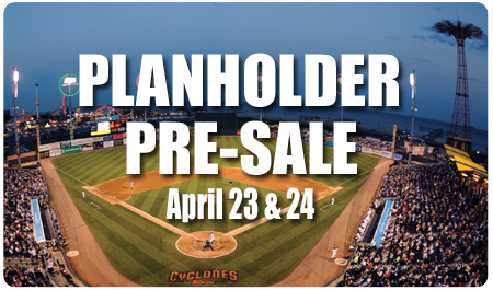 PRE-SALE FOR PLAN HOLDERS