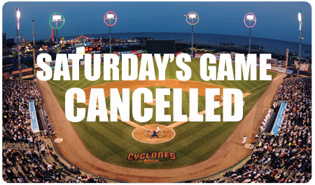SATURDAY'S GAME CANCELLED