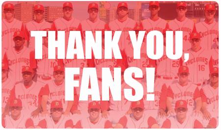 THANK YOU, FANS